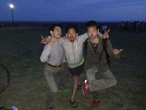 終了後、towayoga主宰のトシさんと記念撮影。いつもティーチングが絶妙な、ステキな先生です!