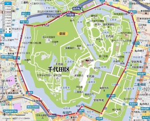 皇居ランのコース概要MAPです。
